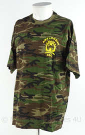 Korps Mariniers Tshirt woodland camo - AMFLOGBAT Amfibisch Logistiek Bataljon - SSG Sea Based Support Group - maat XL - origineel