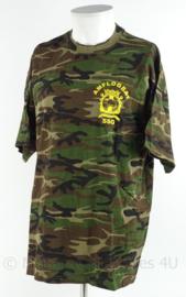 Korps Mariniers Tshirt woodland camo - AMFLOGBAT Amfibisch Logistiek Bataljon - SSG Sea Based Support Group - maat XL - origineel