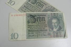 Reichsmark Briefgeld WO2 - 10 RM