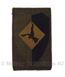 KL Nederlandse leger Luchtmobiele brigade embleem met klitteband OUD MODEL 8 x 5,5 - voor gevechtstenue - origineel