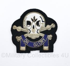 Britse leger Death or Glory - luxe insigne van metaaldraad -  9 x 9 cm - origineel
