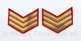 Korps Mariniers Barathea rangen paar - Sergeant der Mariniers - vlekje aanwezig -  origineel