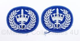 Gemeentepolitie Brigadier mouw rangen  Brigadier , per Paar - 7,5  x 6,5 cm - origineel
