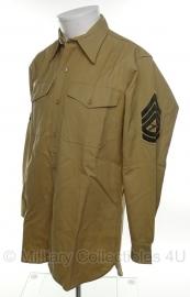 USMC Khaki Shirt - Gunnery Sergeant - meerdere maten - origineel