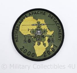 Defensie en KLU Luchtmacht embleem Netherlands Apache Detachment 2000 2001  - met klittenband - diameter 9 cm - origineel