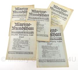 Boek Marine Rundschau - 1930 - set van 5 boeken - origineel