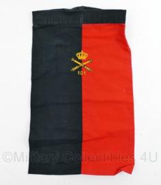 Nederlands leger halsdoek 101 Afdeling Veldartillerie  - rood/zwart -  origineel
