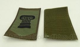 Commando dienstencentra embleem met klittenband - origineel