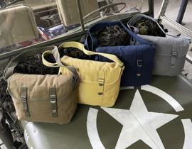 Schoudertas met draagriem Army Style - Groen, Khaki, Blauw of Grey