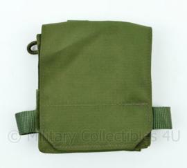 Nederlandse Leger tasje voor o.a. PVS nachtkijker van de helm groen - 12,5 x 14,5 x 3 cm - NIEUW - origineel