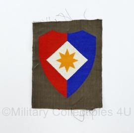 Defensie eenheid mouw embleem Officieren van de staf van het 1e legerkorps ongevouwen - groot model- model tot 2000 -  9 x 7 cm - origineel