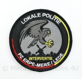 Belgische Lokale Politie Interventie embleem - PZ Erpe - MERE I Lede - diameter 9 cm - origineel