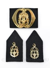 Defensie baret en kraag insigne set Technische dienst - 3 delige set - origineel