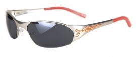 Biker zonnebril - zilver/rood (17/18)