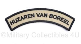 Defensie straatnaam Huzaren van Boreel - huidig model - 11 x 2 cm - origineel