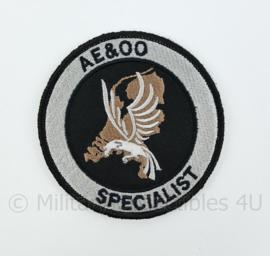 Nederlandse Politie DSI Speciale eenheid AE&OO Specialist Afdeling Expertise & Operationele Ondersteuning embleem - met klittenband - diameter 9 cm