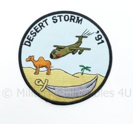 US Army Desert Storm 91 embleem - diameter 10 cm - origineel