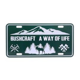 Nummerplaat Bushcraft a Way of Life