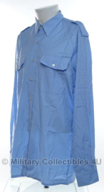Kmar Koninklijke Marechaussee overhemd lichtblauw LANGE mouw gebruikt - maat 42-6  - origineel