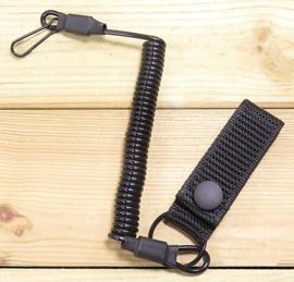 Spiraalkoord met koppellus VOOR pistool o.a. Glock 17 zwart  - NIEUW GEMAAKT