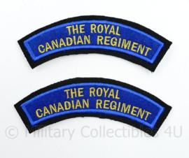 WO2 WW2 The Royal Canadian Regiment shoulder title pair