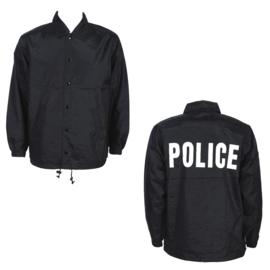 Windjack met opdruk POLICE Politie - zwart