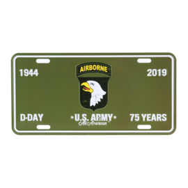 US Style Licence plate D Day 101st Airborne 1944-2019 - 75 jaar herdenking nummerbord