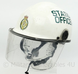 Mersey Regional Ambulance Service Rescue helm STATION OFFICER  - wit -  verstelbaar maat 54 - 62 cm  - origineel