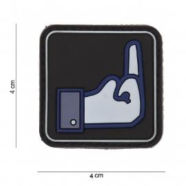 Embleem 3D PVC PVC - met klittenband - Fuck Faceb - 7 x 4  cm