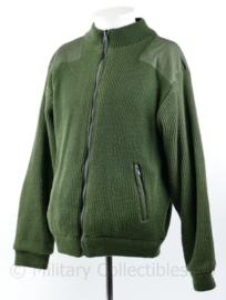 Warm groen fleece vest groen Miltec - omkeerbaar - maat M - gedragen - origineel