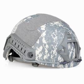 Fast Airsoft helm met rails en verstelbare hoofdband - ACU camo