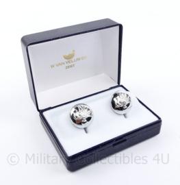 Korps Rijkspolitie manchetknopen paar in doosje - 2,5 x 2 cm - origineel
