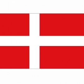 Vlag Denemarken - Polyester -  1 x 1,5 meter