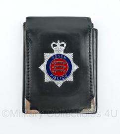 Britse Politie brevet op lederen houder Essex Police  - origineel