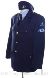 KLU Luchtmacht DT jas NIEUW - met overhemd en schuitje en schouderstukken - maat 24 = maat 48 - origineel