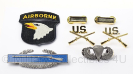 US officer insigne set 2nd Lieutenant 101st Airborne Division