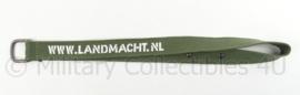 KL Landmacht draagriem met karabijnhaak  - www.Landmacht.nl - afmeting 46,5 x 3 cm - origineel
