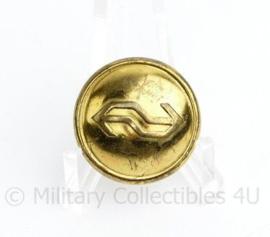 NS Spoorwegpolitie knoop 24 MM goudkleurig - origineel