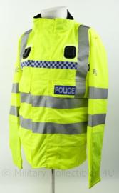 Britse Politie POLICE  jacket High Visibility - met reflecterende strepen - fluorgeel - meerdere maten - origineel