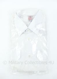 Koninklijke Marine wit DT overhemd met korte mouw - nieuw in verpakking! - maker Kerko - maat 39 - origineel