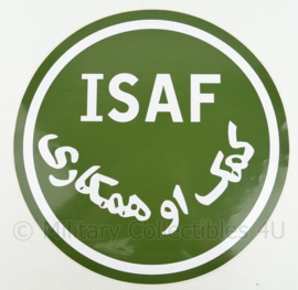 Defensie ISAF voertuig sticker - ongebruikt - diameter 45 cm - origineel