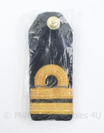 KM Koninklijke Marine epauletten schouderstukken set - Luitenant ter Zee der 2e klasse - NIEUW in verpakking - origineel