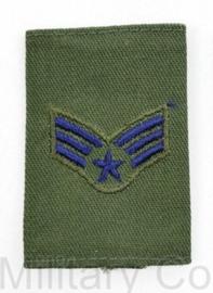 USAF US AIRFORCE GVT epauletten -  rang Senior Airman - per stuk -  6 x 4 cm -  origineel