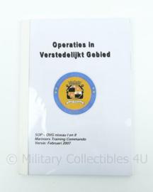 Mariniers Trainings Commando handboek operaties in verstedelijkt gebied - origineel