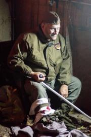 Gewonde Duitse soldaat