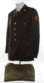 KL Nederlandse leger DT jas met broek voor 2000 - Sergeant-Majoor Luchtdoelartillerie - maat 51 - origineel
