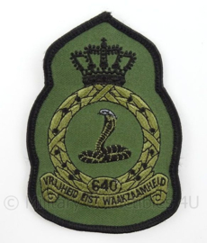 KLu Luchtmacht eenheid embleem 640e Squadron - zonder klittenband - afmeting 8 x 11,5 cm - origineel