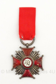 Poolse merit cross for bravery medaille Silver - 2nd class - origineel