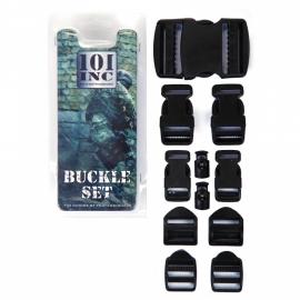 Gespen set - 10 stuks - zwart - voor rugzakken