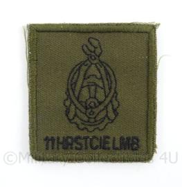 KL Landmacht borst embleem 11e herstel Compagnie Luchtmobiele Brigade - met klittenband - afmeting 5 x 5 cm - origineel